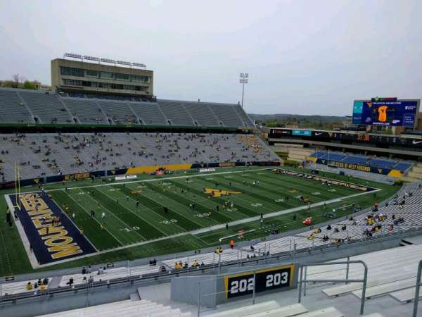 Mountaineer Field, section: 202, row: 16, seat: 109