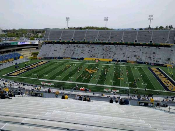 Mountaineer Field, section: 218, row: 30, seat: 23