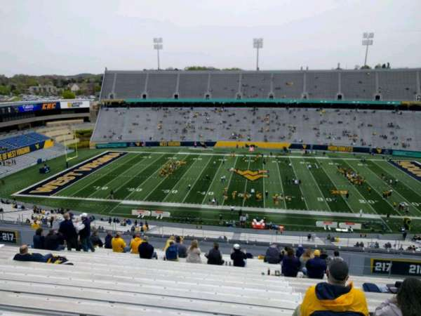 Mountaineer Field, section: 217, row: 22, seat: 124
