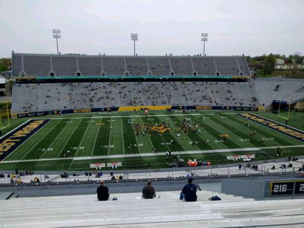 Mountaineer Field, section: 216, row: 18, seat: 21
