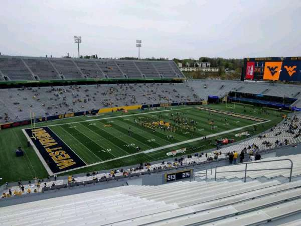 Mountaineer Field, section: 213, row: 24, seat: 120