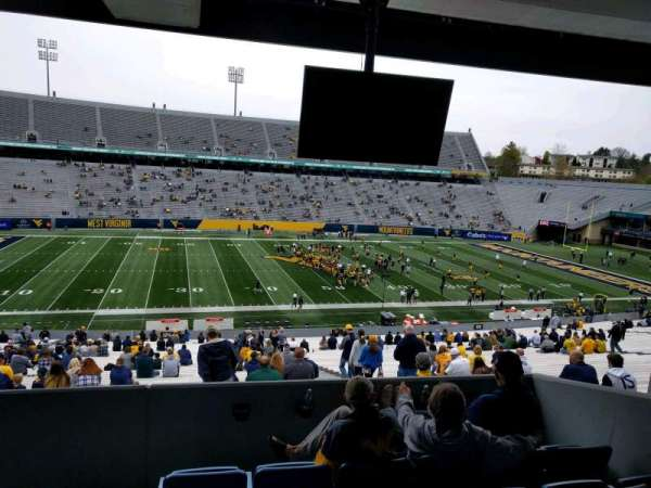 Mountaineer Field, section: field box 52, row: e, seat: 102