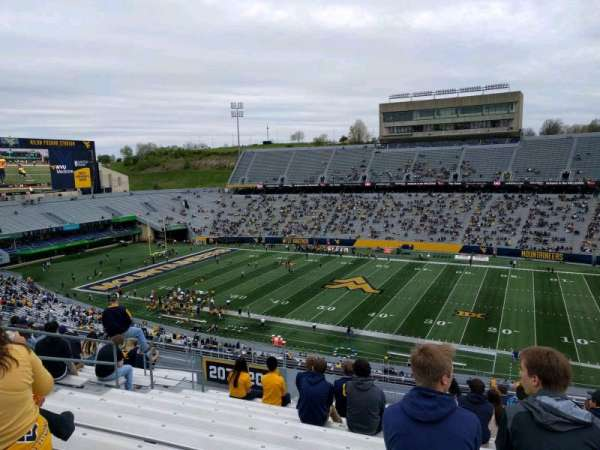 Mountaineer Field, section: 208, row: 18, seat: 125
