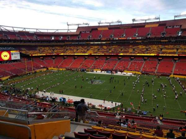 FedEx Field, section: 340, row: 17, seat: 15