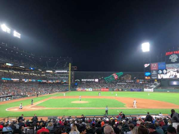 AT&T Park, section: 109, row: 26, seat: 8