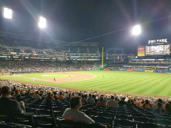 PNC Park, section: 103, row: AA, seat: 12