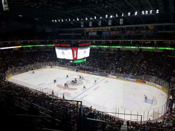 Giant Center, section: 210, row: F, seat: 23
