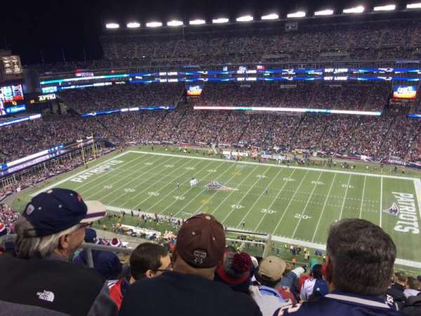 Gillette Stadium, section: 306, row: 16, seat: 23
