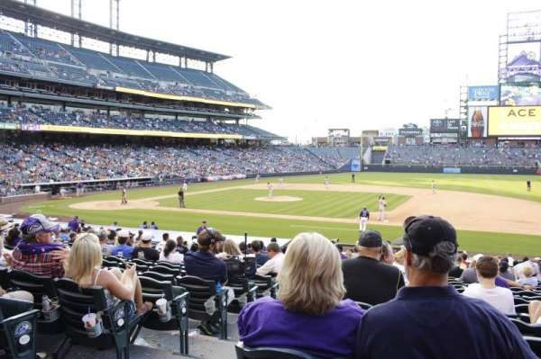 Coors Field, section: 121, row: 24, seat: 12
