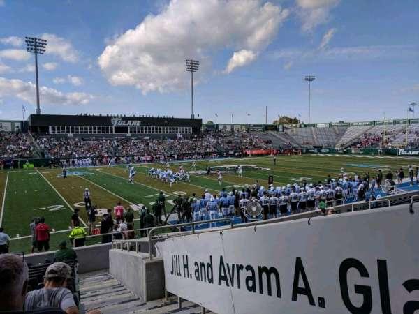 Yulman Stadium, section: 103, row: M, seat: 1