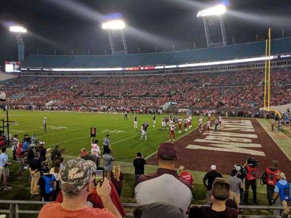TIAA Bank Field, section: 104, row: E, seat: 7