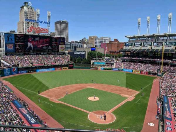 Progressive Field, section: 455, row: C, seat: 11