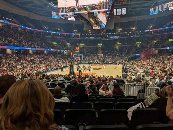 Rocket Mortgage Fieldhouse, section: 113, row: 8, seat: 5