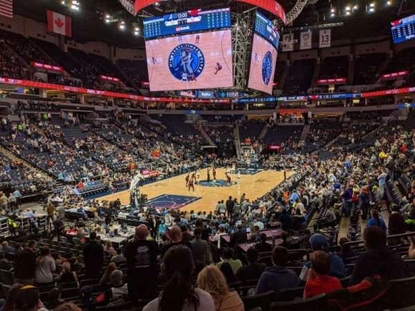 Target Center, section: 138, row: Q, seat: 6