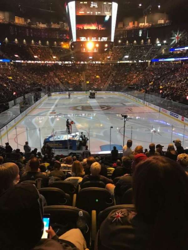 T-Mobile Arena, section: 10, row: S, seat: 17
