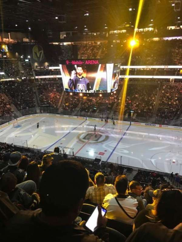 T-Mobile Arena, section: 207, row: J, seat: 7