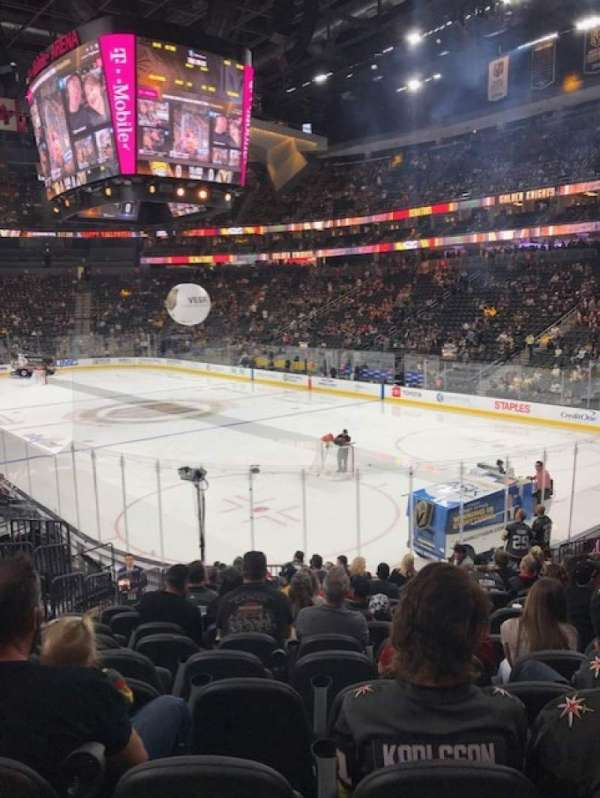 T-Mobile Arena, section: 19, row: Q, seat: 7