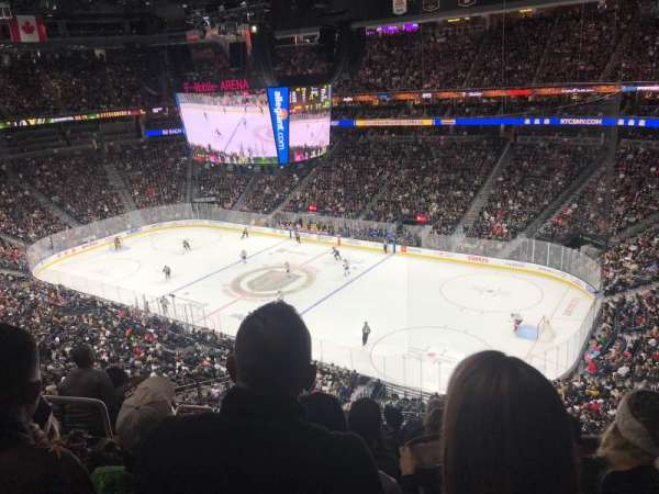 T-Mobile Arena, section: 227, row: G, seat: 3