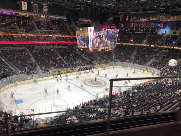 T-Mobile Arena, section: 219, row: B, seat: 15