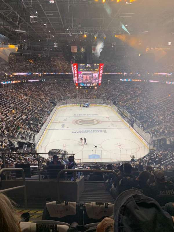 T-Mobile Arena, section: 101, row: K, seat: 2