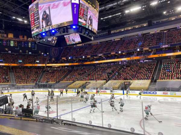 T-Mobile Arena, section: 7, row: F, seat: 10
