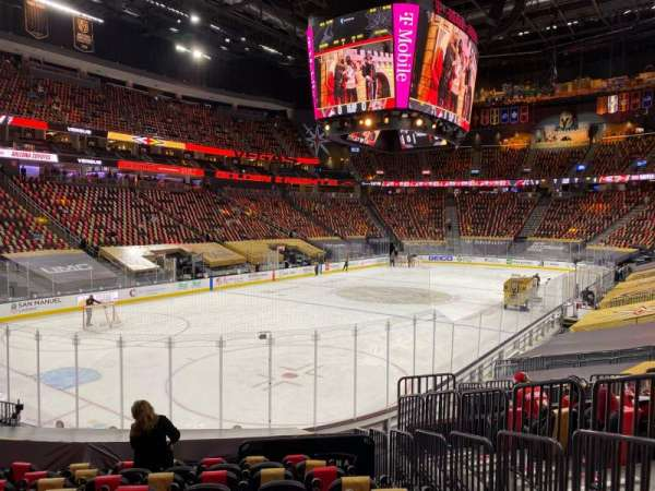 T-Mobile Arena, section: 12, row: N, seat: 16