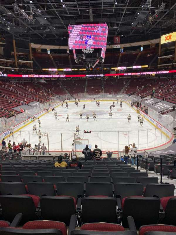 Gila River Arena, section: 106, row: V, seat: 3