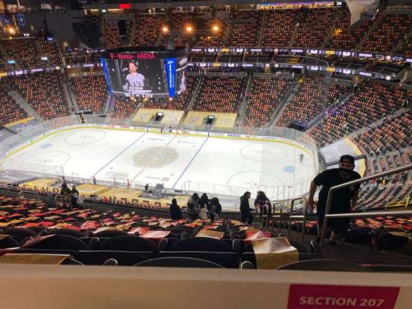 T-Mobile Arena, section: 207, row: TT