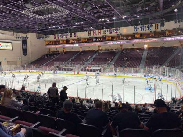Orleans Arena, section: 114, row: M, seat: 8