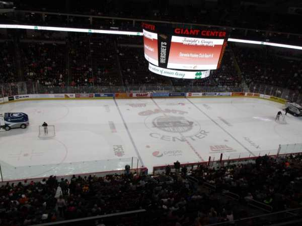 Giant Center, section: 221, row: c, seat: 18