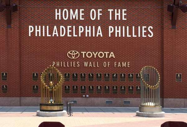 Citizens bank park, section: WALL, row: OF , seat: FAME