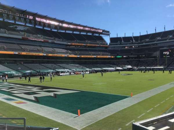 Lincoln Financial Field, section: 133, row: 6, seat: 1