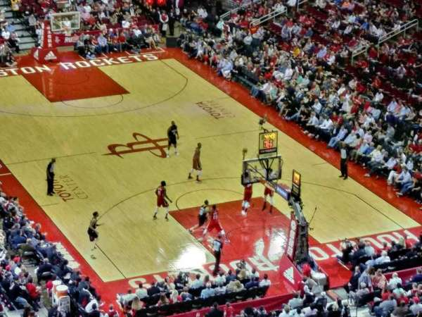 Toyota Center, section: 420, row: 13, seat: 17