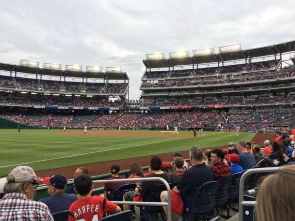 Nationals Park, section: 110, row: F, seat: 4