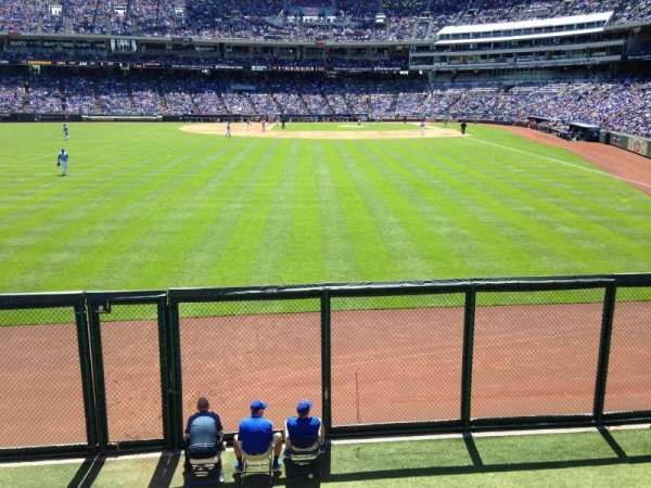 Kauffman Stadium, section: 105, row: A, seat: 1,2