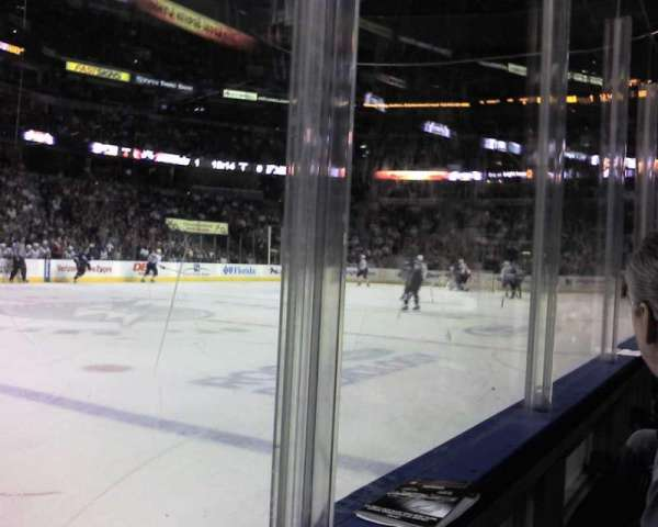 Amalie Arena, section: 117, row: A, seat: 5