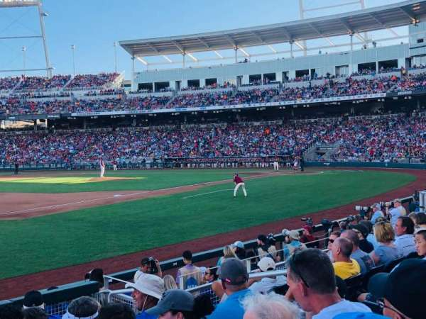 TD Ameritrade Park, section: 120, row: 9, seat: 6