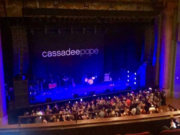 The Wiltern, section: Loge, row: EE, seat: 1