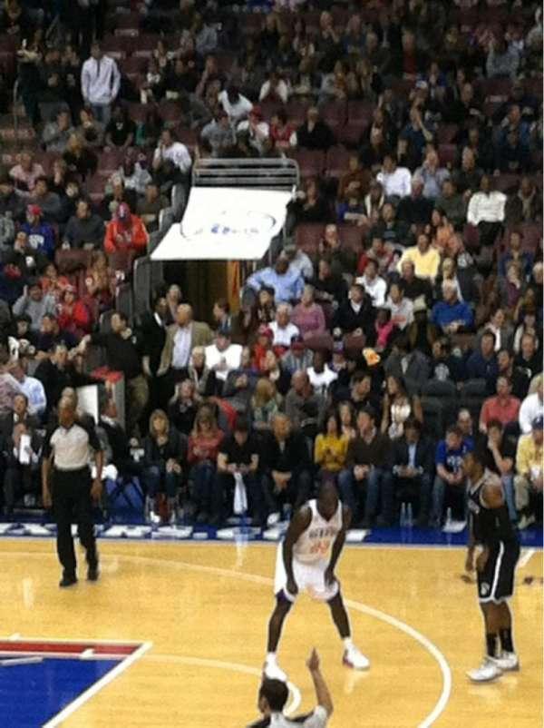 Wells Fargo Center, section: 113, row: 18, seat: 4