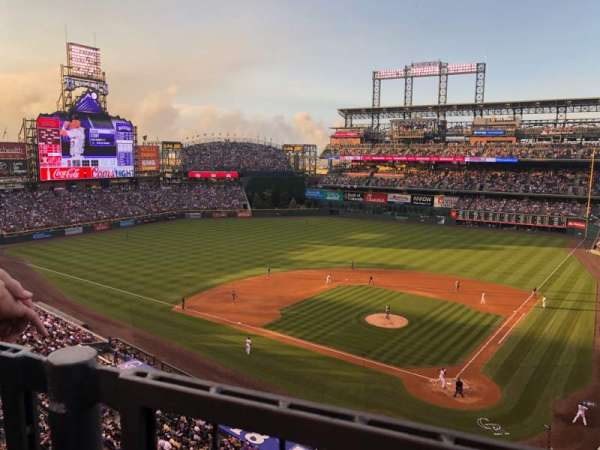 Coors Field, section: L333, row: 1, seat: 8