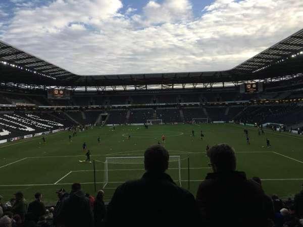 Stadium MK, section: Aisle 32, row: AA, seat: 910