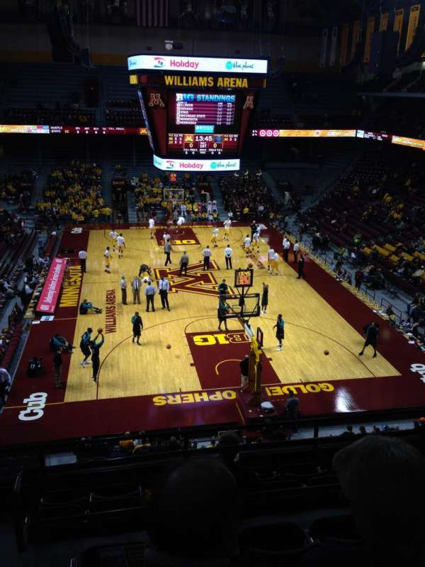 Williams arena section 201 home of minnesota golden gophers