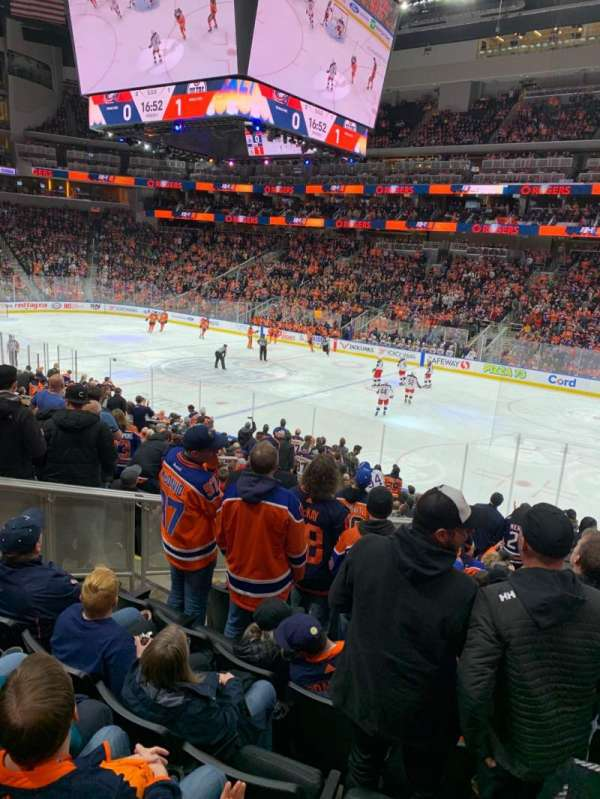 Rogers Place, section: 117, row: 19, seat: 11