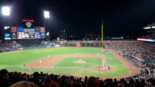 Oracle Park, section: 220, row: l, seat: 8
