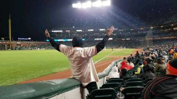 AT&T Park, section: 135, row: 10, seat: 8
