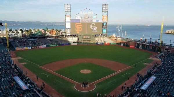Oracle Park, section: VR315, seat: 7