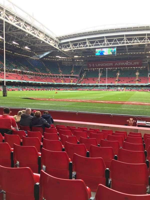 Principality Stadium, section: L18, row: 9, seat: 22