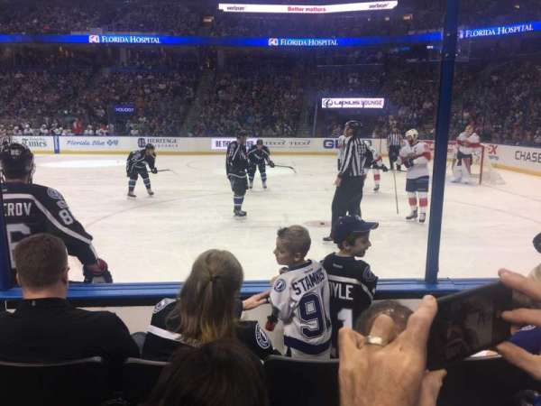 Amalie Arena, section: 114, row: D, seat: 5