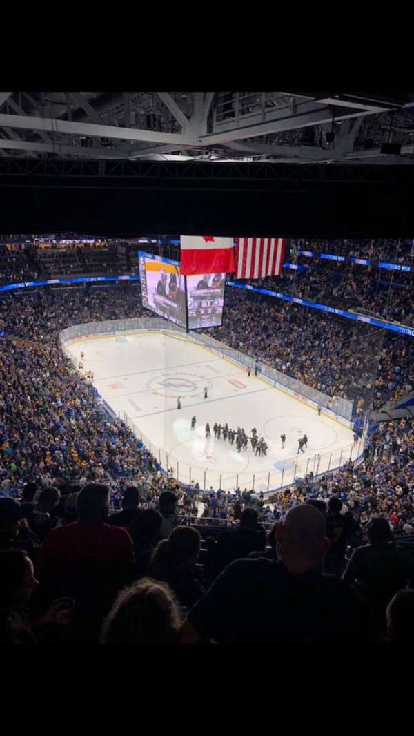 Amalie Arena, section: 326, row: P, seat: 8