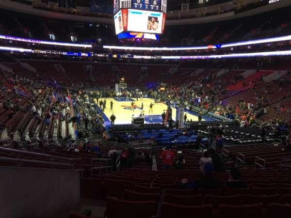 Wells Fargo Center, section: 109, row: 23, seat: 1